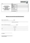 Mitteilung: Neue Adresse und Bankverbindung