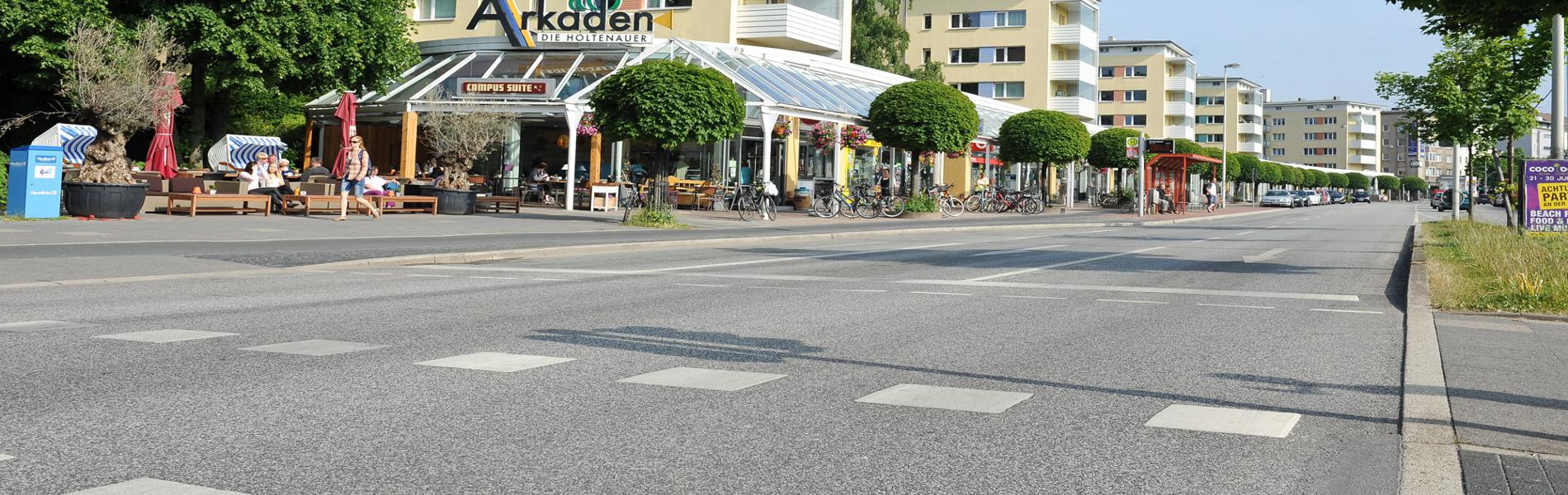 Holtenauer Straße, Arkaden